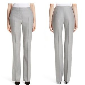 Max Mara Grey Wool Trousers Slacks Size 14 Career